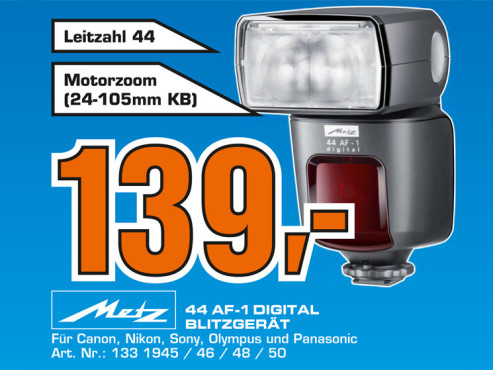 Metz Mecablitz 44 AF-1 ©Saturn