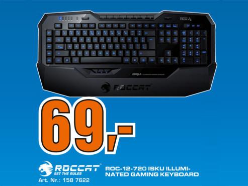 Roccat ISKU Illuminated Gaming Keyboard DE ©Saturn
