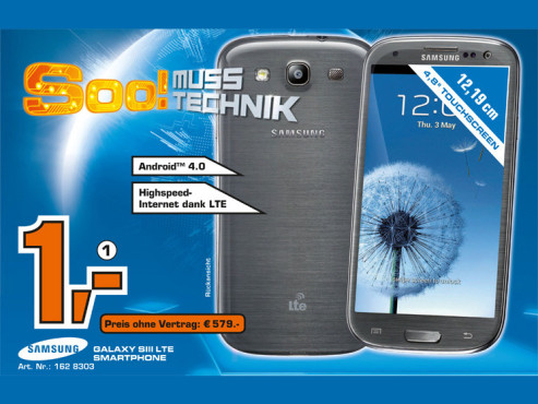 Samsung Galaxy S3 LTE ©Saturn