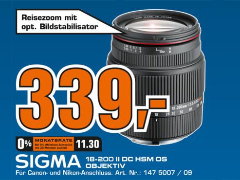 Sigma 18-200mm f3.5-6.3 II DC OS HSM ©Saturn