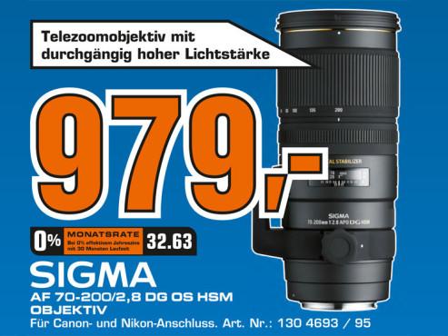 Sigma 70-200mm f2.8 EX DG APO OS HSM ©Saturn