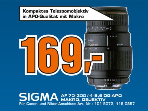 Sigma 70-300mm f4.0-5.6 DG APO Makro ©Saturn