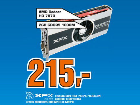 XFX Radeon HD 7870 Core Edition 2048MB GDDR5 ©Saturn