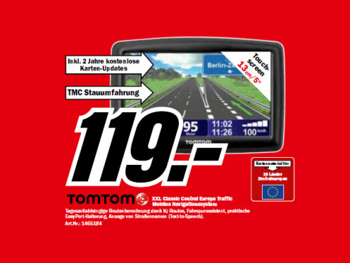 TomTom XXL Classic Edition Central Europe © Media Markt
