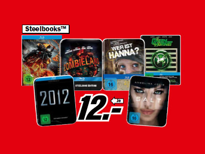 Blu-ray-Filme in Steelbooks © Media Markt