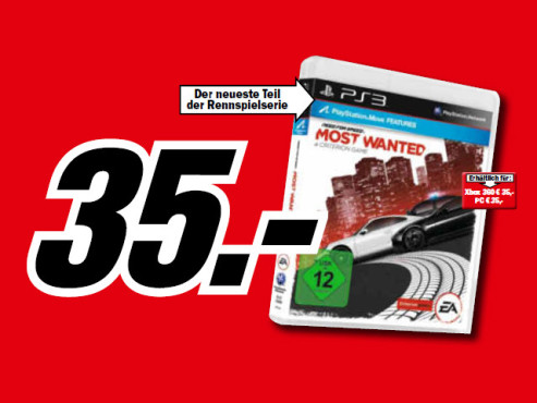 Need for Speed: Most Wanted – A Criterion Game © Media Markt