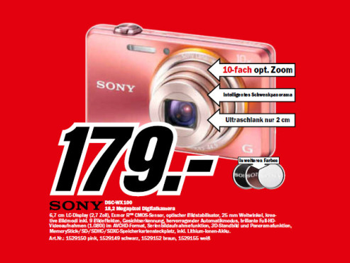 Sony Cyber-shot DSC-WX100 © Media Markt