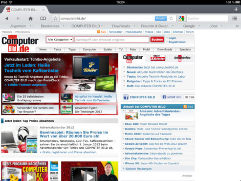 Screenshot Mercury Browser © COMPUTER BILD