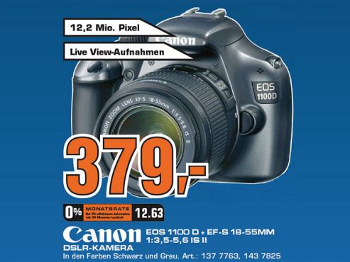 Canon EOS 1100D Kit 18-55 mm © Saturn