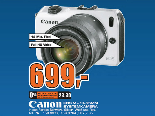 Canon EOS M Kit 18-55 mm © Saturn