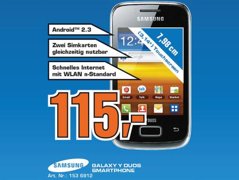 Samsung Galaxy Y Duos ©Saturn
