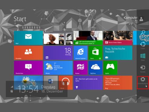 Windows 8: Apps für den Sperrbildschirm einrichten ©COMPUTER BILD