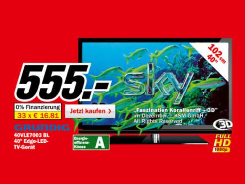 Grundig 40VLE7003 BL ©Media Markt
