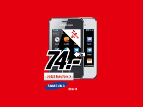 Samsung Star 3 (S5220) ©Media Markt