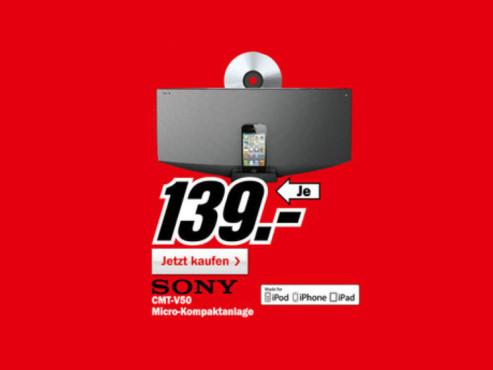 Sony CMT-V50iP ©Media Markt