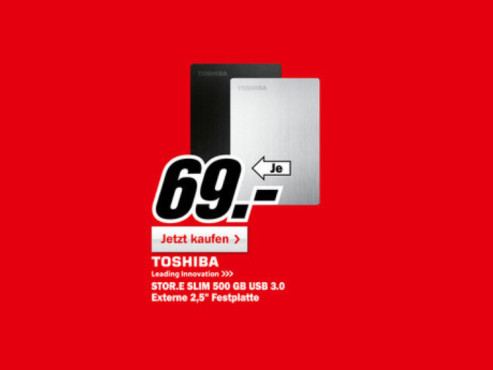 Toshiba Stor.E Slim 500GB ©Media Markt