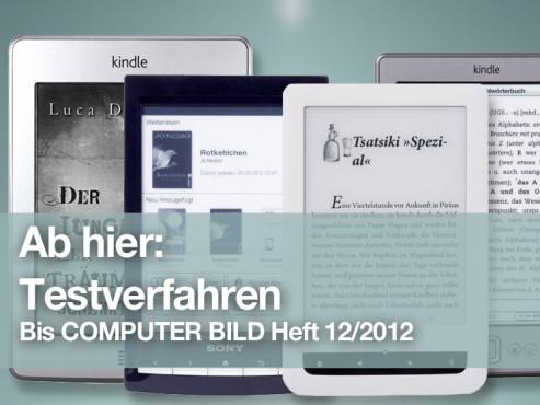 eBook-Reader bis 12/2012 ©COMPUTER BILD
