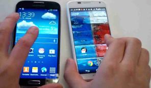 Moto X gegen Samsung Galaxy S4 ©COMPUTER BILD