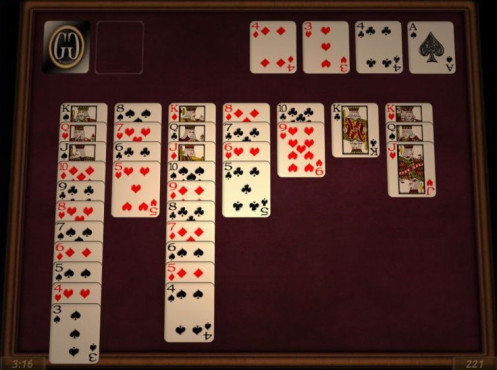 Free Solitaire 3D ©Grass Games