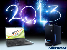 Medion-Gutschein zum neuen Jahr 2013 ©Medion, James Thew - Fotolia.com