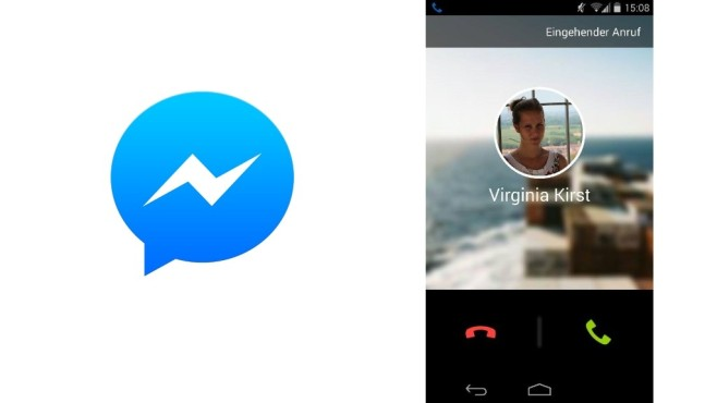 Eingehender Anruf FB Messenger © Facebook, COMPUTER BILD