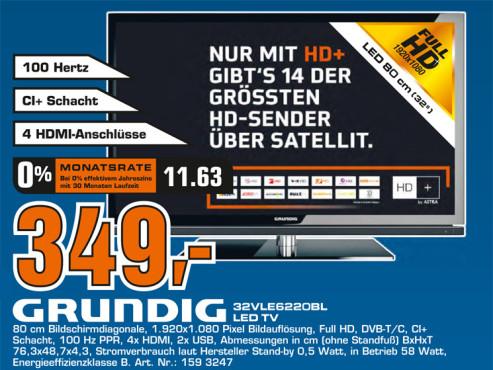Grundig 32 VLE 6220 BH ©Saturn