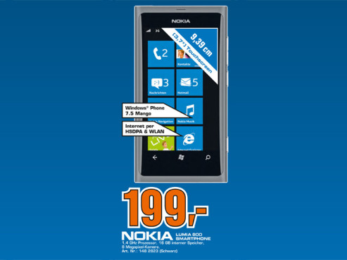 Nokia Lumia 800 © Saturn