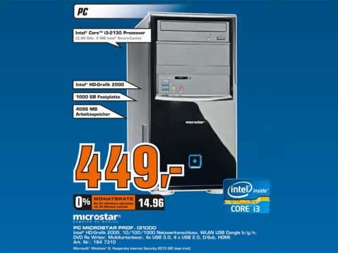 PC Microstar Prof. I31000 © Saturn