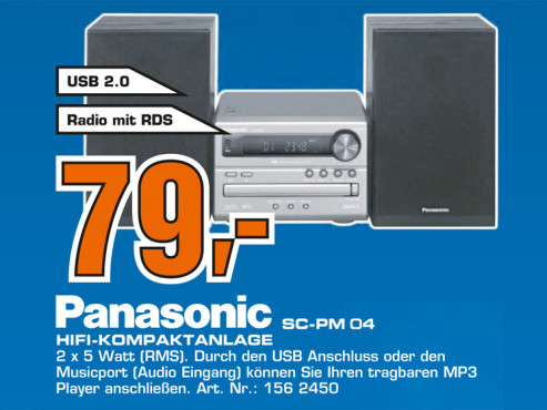 Panasonic SC-PM04 © Saturn