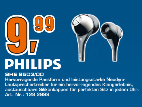 Philips SHE9503 © Saturn