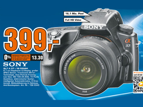 Sony Alpha 37 Kit 18-55 mm (SLT-A37K) © Saturn