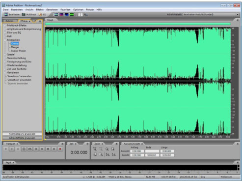 Adobe Audition 3.0 © COMPUTER BILD