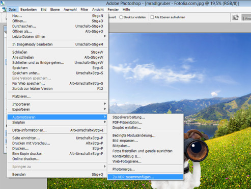 HDR-Funktion ©Landschaft: mradlgruber – Fotolia.com; Hund: javier brosch – Fotolia.com; COMPUTER BILD