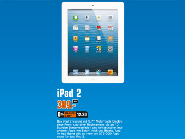 Apple iPad 2 16GB WiFi © Saturn