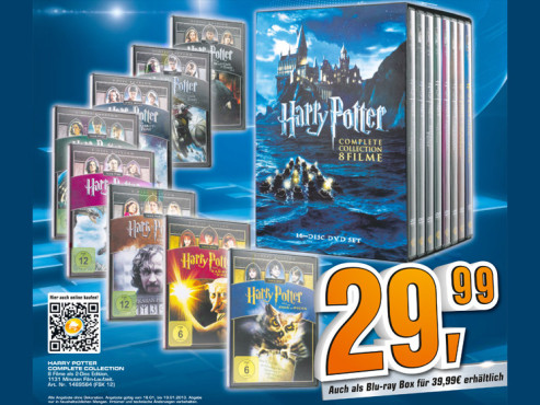 Harry Potter: The Complete Collection - Jahre 1 - 7 (16 Discs) © Saturn