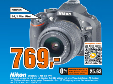 Nikon D5200 Kit 18-55 mm © Saturn