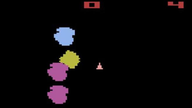 Geschicklichkeitsspiel Asteroids: Raumschiff ©Atari