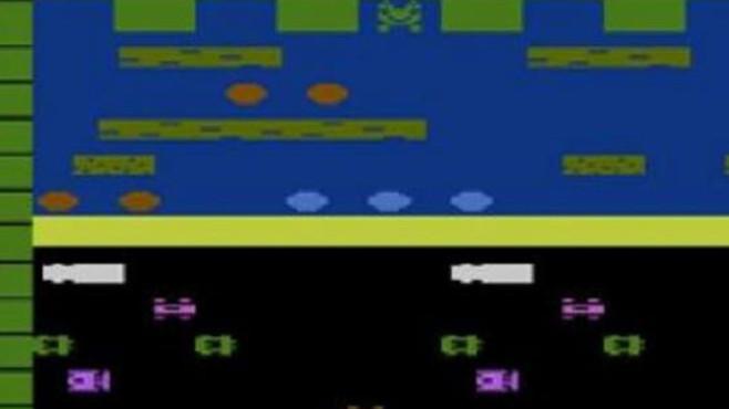 Geschicklichkeitsspiel Frogger: Frosch ©Sega / Konami