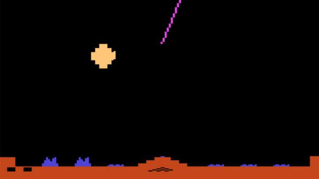 Geschicklichkeitsspiel Missile Command: Rakete ©Atari