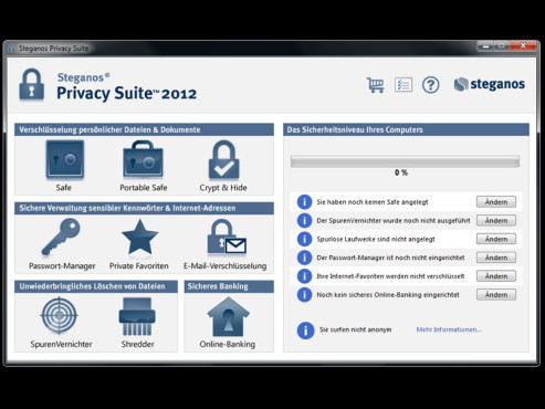 Steganos Privacy Suite 2012 © COMPUTER BILD