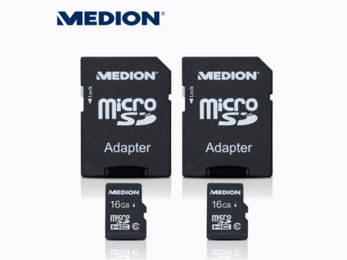 Medion E89130 (MD 86862) microSDHC-Speicherkarten ©Aldi Nord