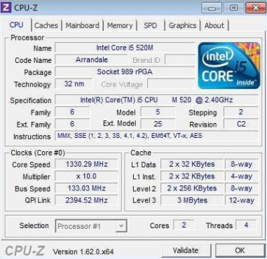 CPU-Z © CPUID