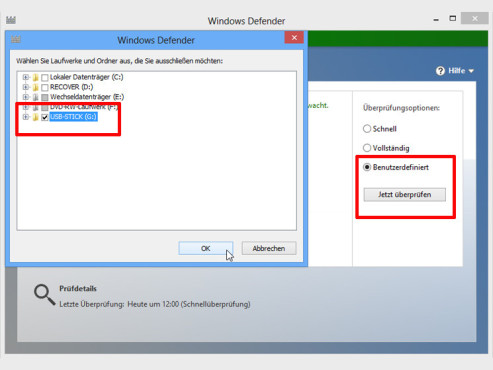 Windows 8: Windows Defender Virenschutz © COMPUTER BILD