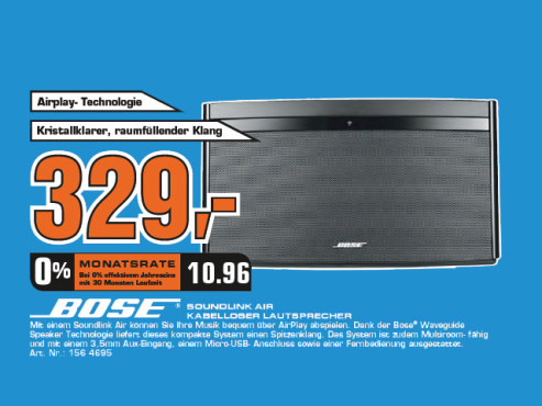 Bose SoundLink Air Digital Music System © Saturn