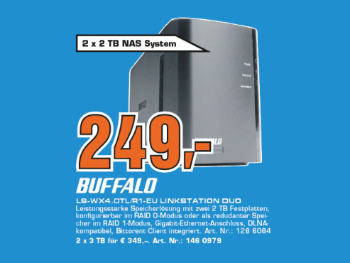 Buffalo LinkStation Duo 4TB © Saturn