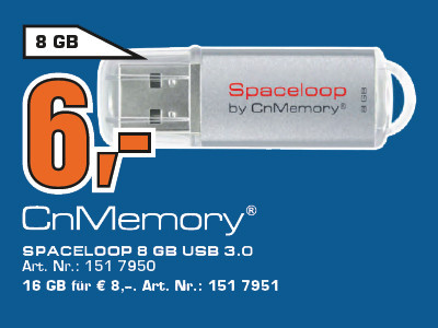 CnMemory Spaceloop XL 8GB USB 3.0 © Saturn