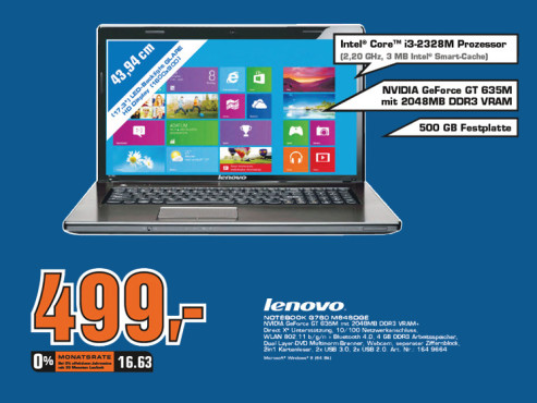 Lenovo G780 (M848D) ©Saturn