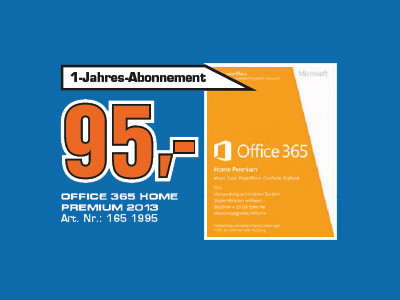 Microsoft Office 365 Home Premium PKC (Win) (DE) © Saturn
