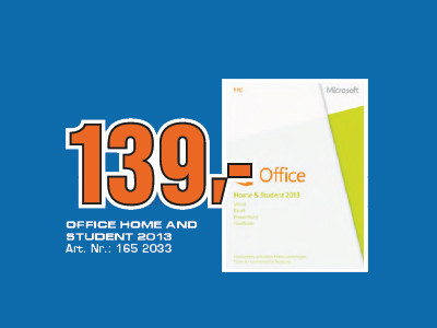 Microsoft Office Home and Student 2013 PKC (EDU) (Win) (DE) © Saturn