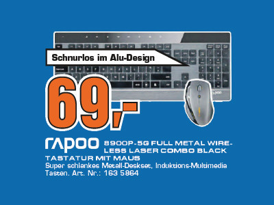 Rapoo 8900P Full Metal © Saturn